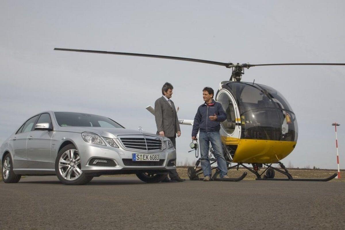 Hubschrauber selber fliegen Berlin McFuntastic Mercedes